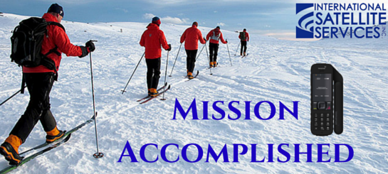mission complete, men in snow