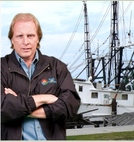 man in front of boat